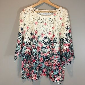 Charter Club Lace Top Size XL